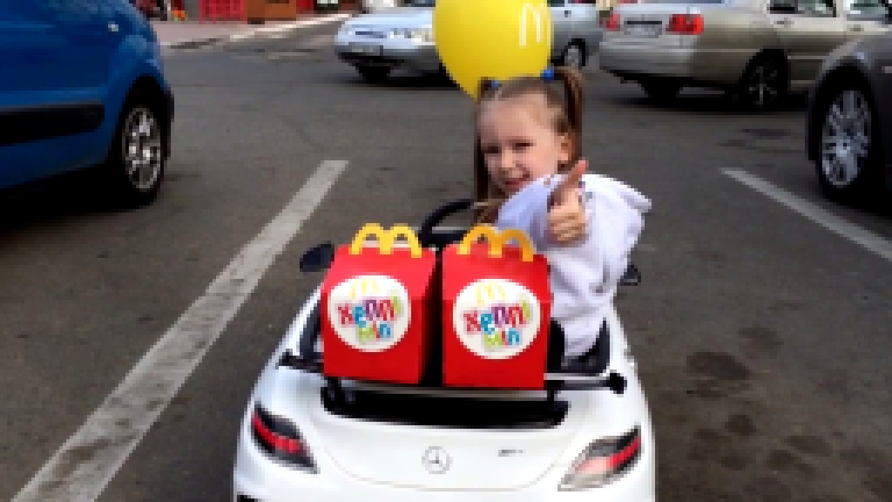 Bad Baby  уехала в Макдональдс Bad Kids Driving Power Wheels Ride on Car for McDonalds