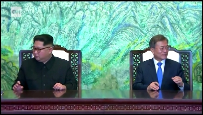 This is the moment Moon Jae-in and Kim Jong Un signed an agreement pledging to end the Korean War.  - видеоклип на песню